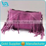 Bohemia Style Suede Clutch Bags/Designed Fringe Tassel Bag/New Clutch With Tassels