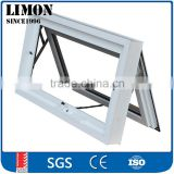 Australia standard double glazed aluminium chain winder awning window design with chain winder in white
