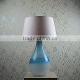 2016 new design beatiful Sea Blue Glass table lamp , home decorate simple Glass table light