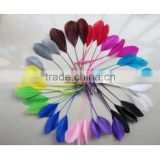 wholesale dyed white trimmed goose feathers artificial