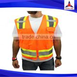 Security Protection Cycling High Visibility Yellow Reflective Safety Vest