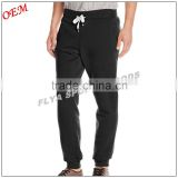 custom wholease plain black casual men jogger sweatpants with drawstring waistband jogger pants