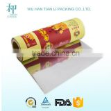 Laminated plastic film for automatic packaging machine