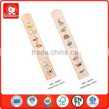 directly import ruller toys from china 0.3cm bulge 8 different animals on the kids growth chart
