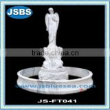 white stone angel water fountain outdoor
