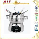 MSF mini fondue set with belly shape body free spirit stove