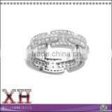 Panyu Factory Sterling Silver Micropave Cubic Zirconia Finger Ring