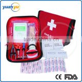 2016 new product professional emergency medical waterproof mini trip travel first aid kit