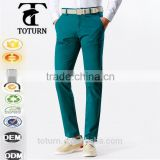 New mans fashion High Quality casual dress plain solid color Quick Dry cotton green man Long Pants mens Slim Fit trousers                                                                         Quality Choice