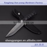 K-608 hunting machete fixed blade knife/knives(black)