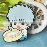 flexible stamp anime pvc soft rubber cellphone holder