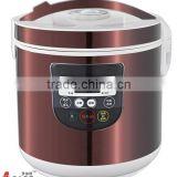 6L NEWEST RED ROUND RICE COOKER WITH 10 PROGRAMS IMD SENSOR TOUCHING PANEL, LED DISPLAY,BIG CAPACITY