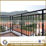 Wholesale OEM & ODM balcony balustrade wrought iron cheap deck railings with AkzoNobel Powder coating