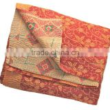 INDIAN VINTAGE SARI PATCHWORK KANTHA QUILTS at discounted prices directly from manufacturer in India