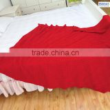 Boya fashion Sedex certification plain solid thick blankets korean mink blanket manufacturer