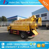 High pressure sewer dredging and cleaning vehicle 4000L sewage tank with 1000L water tank