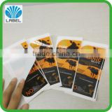 Hot selling Waterproof Self-Adhesive Logo Printed Meat Packaging Label vinyl beef sticker, frozen food sticker