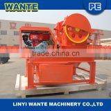 China WANTE Small Portable Mobile Diesel Jaw Crusher for sale to Philippines,Kyrghyzstan