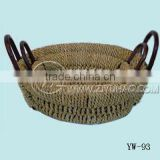 round Grass Basket Set with ear handle
