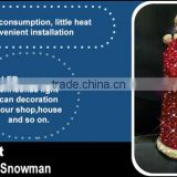 Holiday time fat christmas santa smart christmas moving santa with CE RoSH outdoor christmas santa