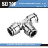 High quality pneumatic fitting brass nickel-plated fixed branch tee fittings copper material fitting pipe fitting