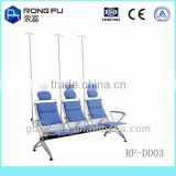 190L*73W*86H cm powder coated steel+pad hospital chair for transfusion(with infusion pole)