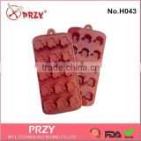 15-Apple Cavity Silicone Chocolate Rubber Core Mold