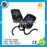 Custome engraved military blank dog tags