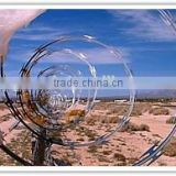 crossed&single razor barbed wire, galvanized Razor Flat Fence, Welded Razor Wire Mesh window Fence factory