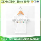 Simple style plain white Children t-shirts light up t shirts for kids bulk sale