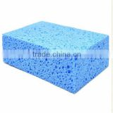 blue quadrate car wash sponge