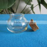 mini glass jar with wooden lid