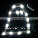 colour changing led decorative serial lights on the window bell ring shape decoration light