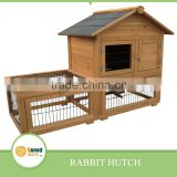 Wooden Rabbit hutch With Run Cage
