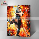 handmade arts and crafts dance woman of diy oil painting by numbers wholesales in china jinhua for decor home