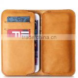 Multifunction leather phone wallet soft real leather
