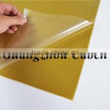 hot sale high quality hybrid 3K gold+silver glossy hybrid glass fiber sheets with best price