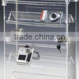 Small Display Case for Counter w/ 5 Double-Sided Shelves, Hinged Door & Rotating Base(DS-B-151)