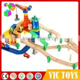 wooden train set, wooden railway set, kids wooden track set with FSC certificates