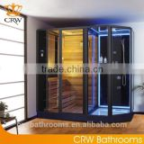 CRW AG0007 corner far infrared sauna room with shower