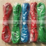 Green colored clothes line rope
