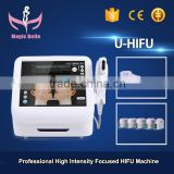 Portable HIFU Machine/Wrinkles Portable Weight Loss Removal/Fat Removal Machine 8MHz Double Chin Removal