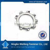 external lock washer for chemical engineering good seal white zinc plated ISO certificate