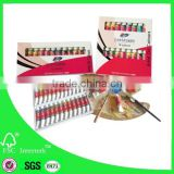 Wholesale artist oil colours set 12ml with 18 colors