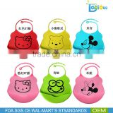 Cheap price China factory Animal waterproof silicone feeding baby bibs with 20 different designs