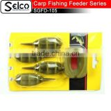 Carp fishing tackle set, 4 pcsinline method feeder with 1 mould set