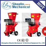 Lowest price garden tool super wood chipper shredder with petrol engine with best service