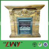 Different modern style fiberglass 3 sided electric fireplace