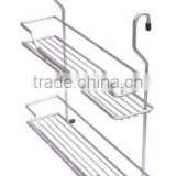 2-tier bath rack wall-mounted 2 tier bath storage rack bath shelf metal bath rack wire bath rack