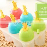 BPA FREE 100% Plastic Ice Popsicle Mold/Simple household plastic ice cream mold